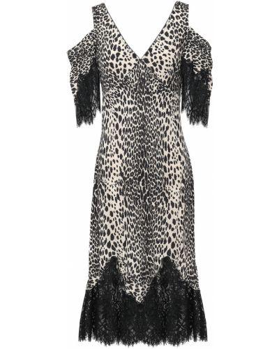 Кружевное платье миди из вискозы на шнурках Mcq Alexander Mcqueen