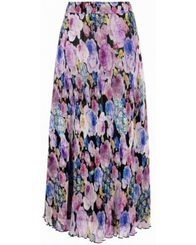 Fioletowa spódnica plisowana Ganni