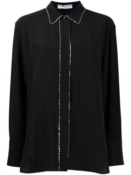 Jedwab czarny klasyczny klasyczna koszula z mankietami Givenchy