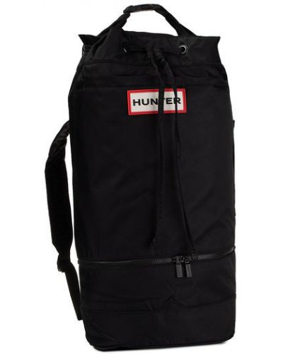 Czarny plecak z nylonu Hunter
