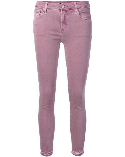 Укороченные джинсы фиолетовый скинни J Brand