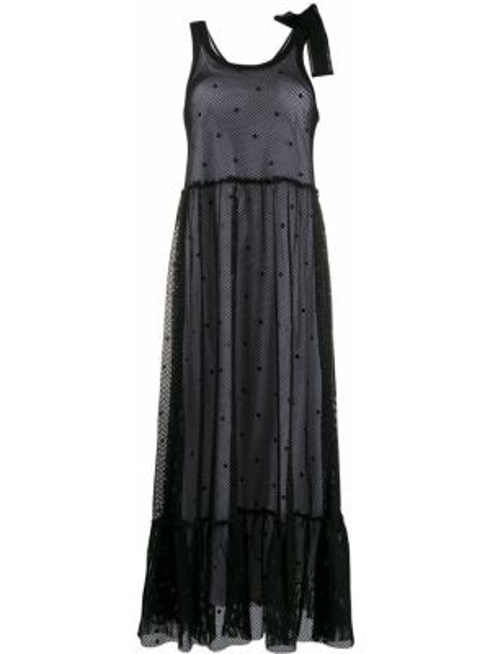 Платье миди сетчатое с оборками Redvalentino