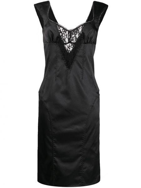 Ажурное платье с V-образным вырезом без рукавов на молнии Dolce & Gabbana Pre-owned