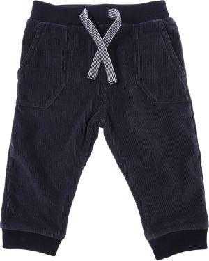 Niebieskie spodnie z aksamitu Petit Bateau