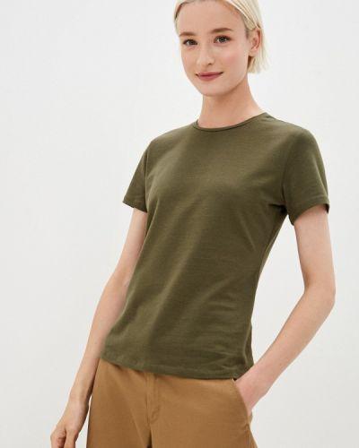 Зеленая с рукавами футболка Befree