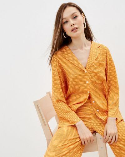 Оранжевая блузка осенняя Lorani