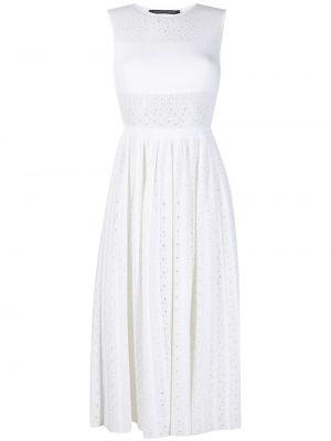 Biała sukienka midi bawełniana bez rękawów Antonino Valenti