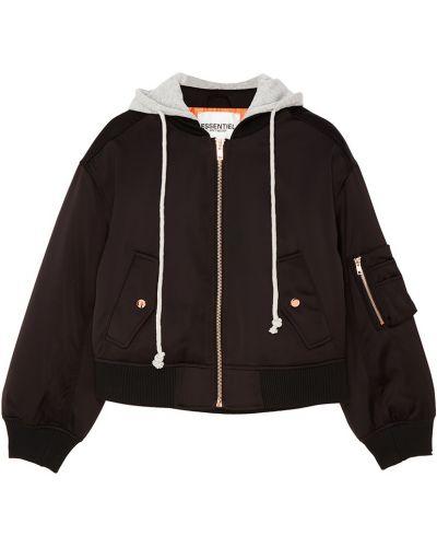 Куртка с капюшоном укороченная с воротником стойкой Essentiel Antwerp