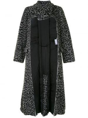 Серое шерстяное пальто с вырезом Comme Des Garçons Comme Des Garçons