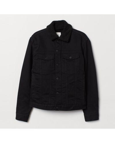 Джинсовая куртка из овчины - черная H&m