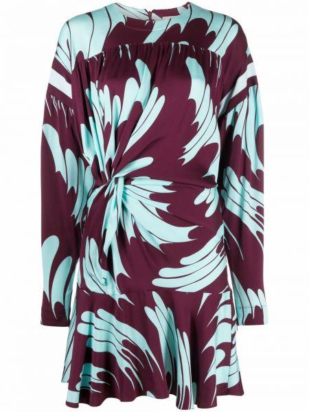 Платье с оборками - фиолетовое Stella Mccartney