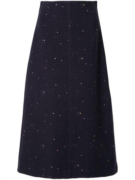Хлопковая с завышенной талией черная юбка миди Ginger & Smart