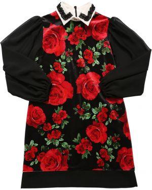 Платье с вышивкой на молнии Monnalisa