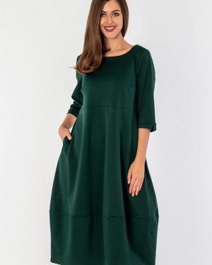 Повседневное платье осеннее зеленый S&a Style