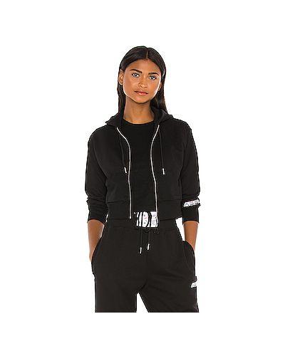 Черный спортивный свитер с капюшоном на молнии Adam Selman Sport