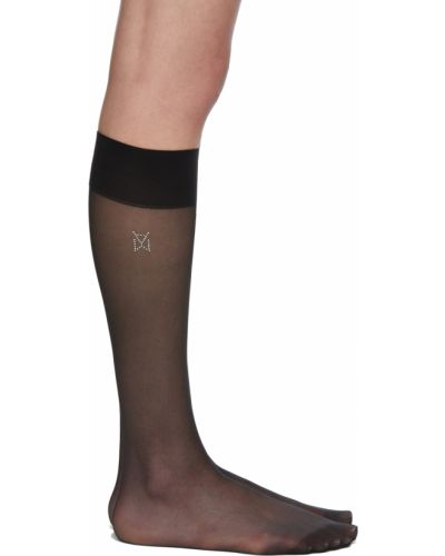 Черные носки длинные Wolford