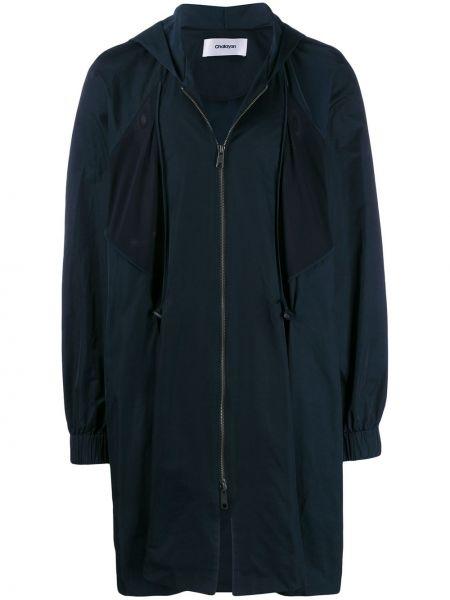 Синее пальто с капюшоном Chalayan