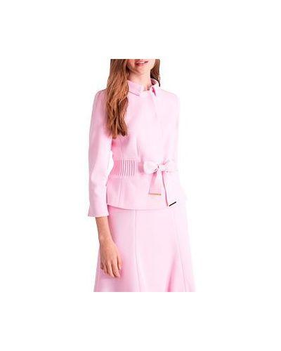 Пиджак шерстяной розовый Luisa Spagnoli