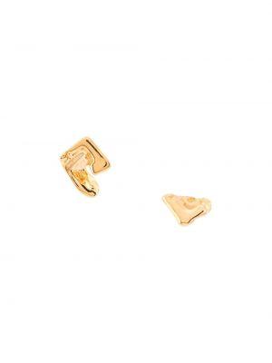 Золотистые желтые серьги-гвоздики позолоченные Coup De Coeur