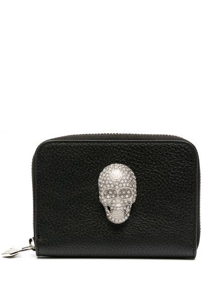 Czarny portfel skórzany Philipp Plein