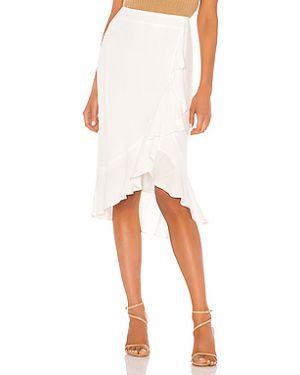 Кашемировая юбка мини с оборками на молнии с поясом Cupcakes And Cashmere