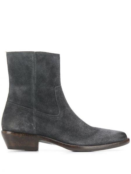 Buty skórzane brązowe zamsz Isabel Marant