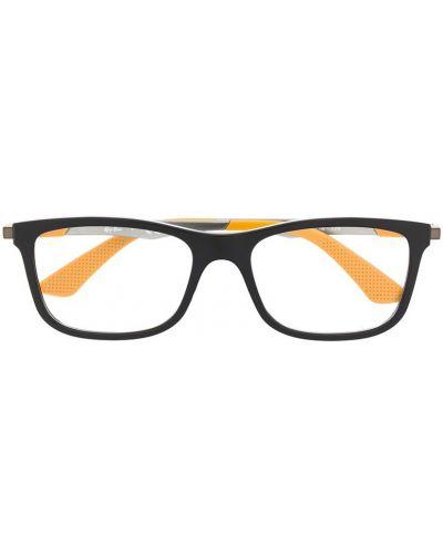 Черные очки прямоугольные металлические Ray Ban Junior