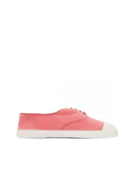 Розовые кроссовки на шнуровке Bensimon