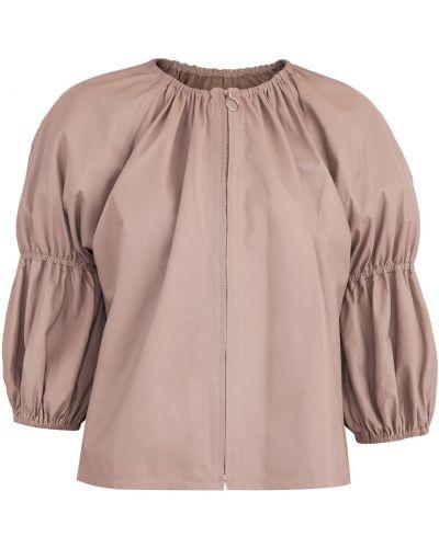 Кожаная куртка на резинке Drome