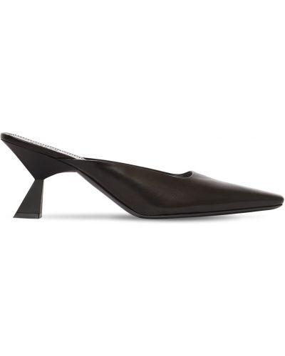 Czarny muły na pięcie z prawdziwej skóry plac Givenchy