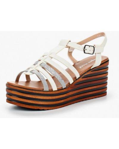 Белые босоножки на каблуке Super Mode