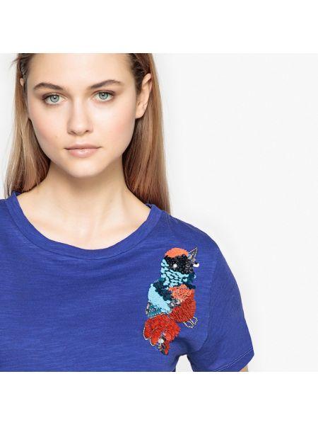 Синяя футболка хлопковая La Redoute Collections