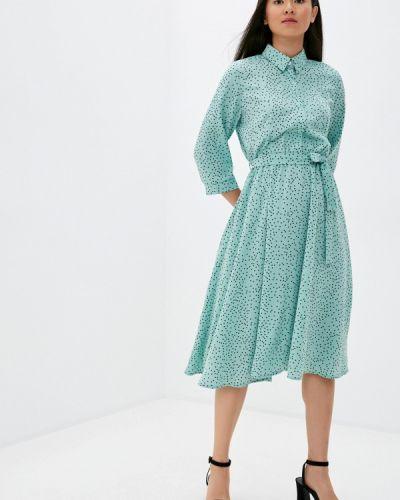 Бирюзовое прямое платье Imocean