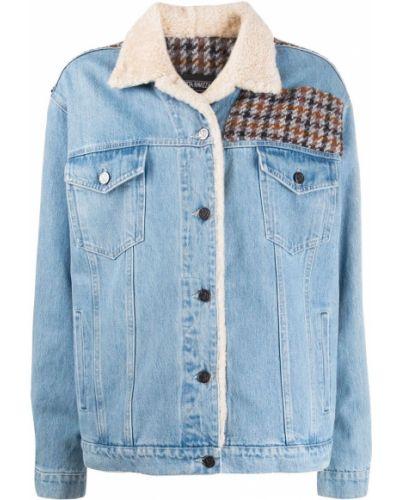 Синяя джинсовая куртка свободного кроя на пуговицах Simonetta Ravizza