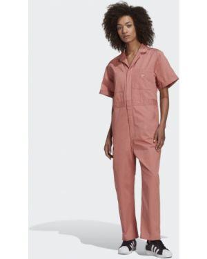 Костюмный розовый комбинезон Adidas