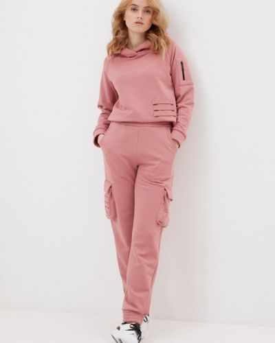 Костюмный розовый спортивный костюм Sitlly
