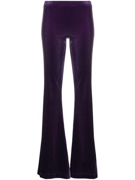 Брючные фиолетовые брюки с манжетами Antonella Rizza
