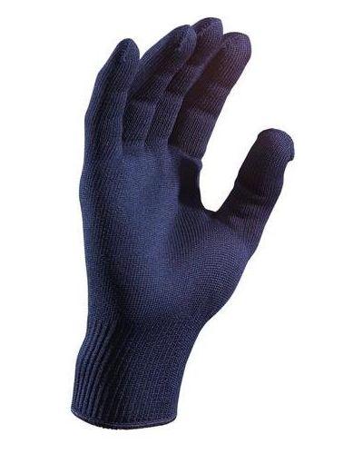 Кожаные перчатки тонкие синий Foxriver