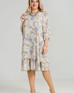 Вечернее платье летнее с цветочным принтом Luxury