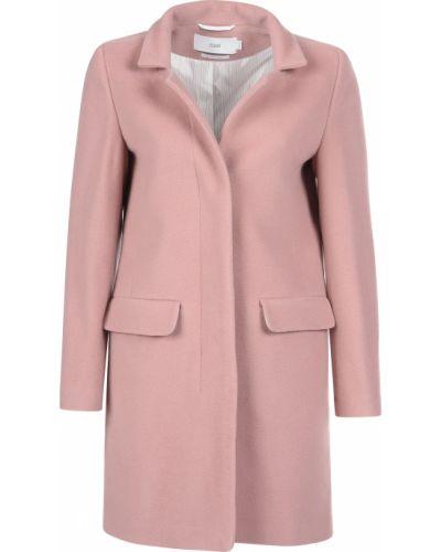Розовое шерстяное пальто с капюшоном Closed