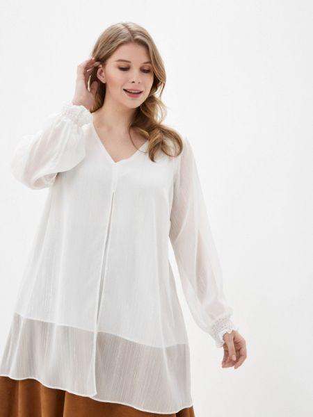 Блузка с длинным рукавом белая весенний Evans