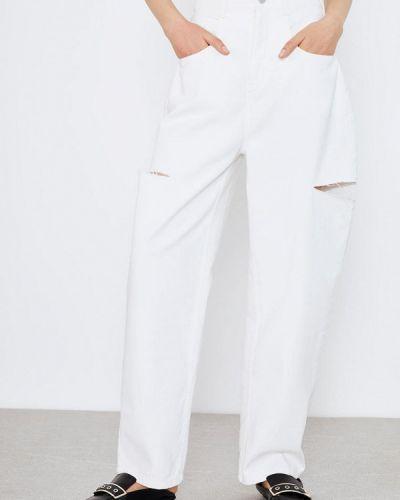Белые расклешенные джинсы свободного кроя Lime