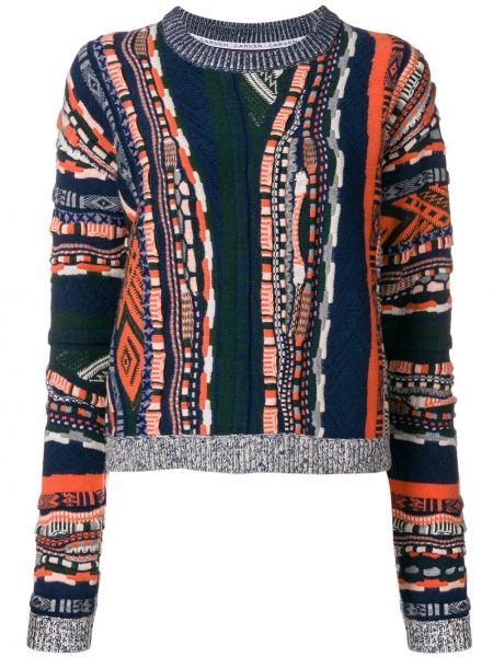 Sweter wełniany - niebieski Carven