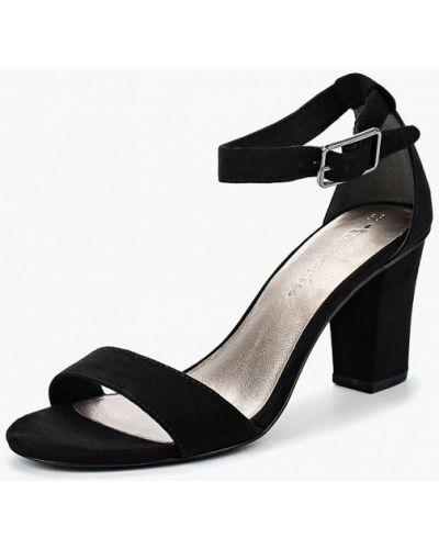 Черные босоножки на каблуке Tamaris
