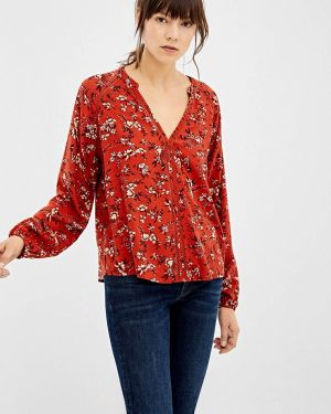 Блузка с длинным рукавом весенний красная Springfield
