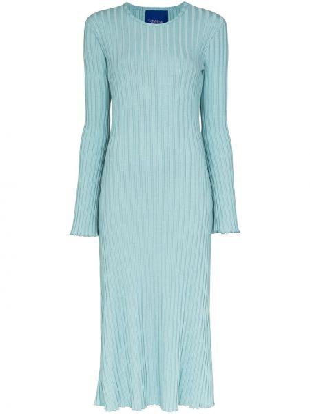 Sukienka midi prążkowana - niebieska Simon Miller