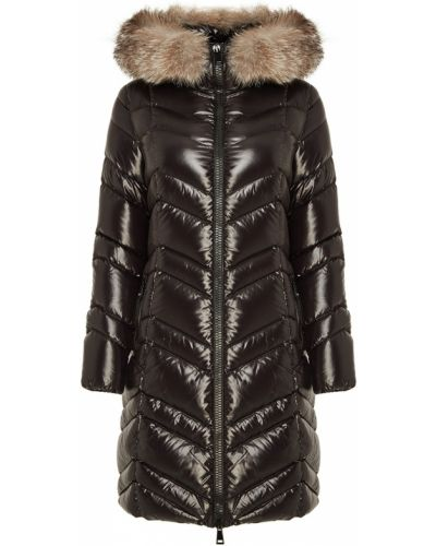 Зимняя куртка с капюшоном черная Moncler