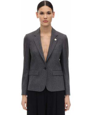 Шерстяной пиджак с карманами с отворотом Lardini