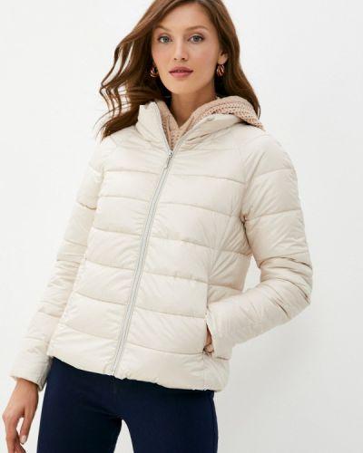 Бежевая теплая куртка Zolla
