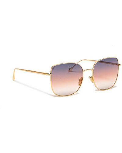 Złote okulary Isabel Marant